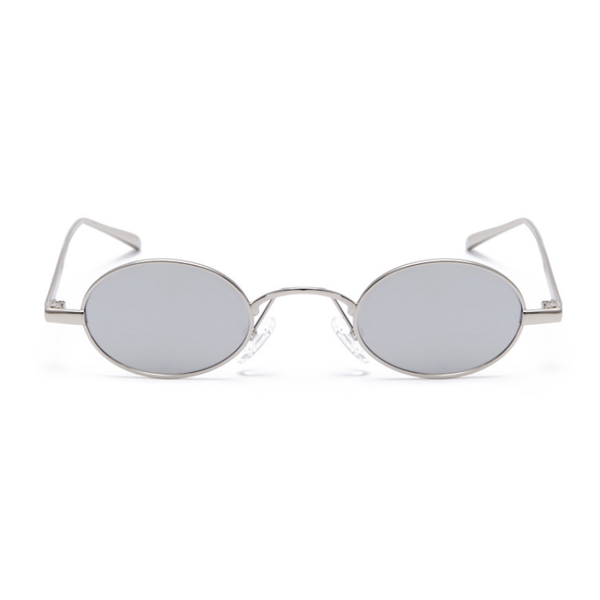 U068 Silver Oval Sunglasses