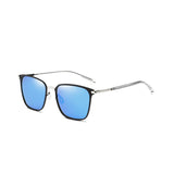 U013 Blue Polarized Square Sunglasses