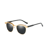 U021A Gold/Black Clubmaster Sunglasses