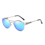C079 Polarized Blue Oval Sunglasses