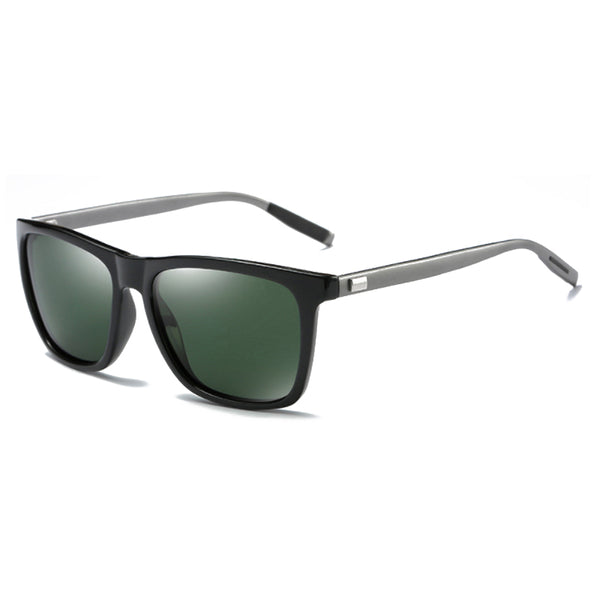 M008 Polarized Dark Green Square Sunglasses