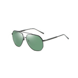 U054 Polarized Green Aviator Sunglasses