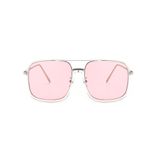 U063 Pink Square Sunglasses