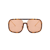 U064 Brown Square Sunglasses