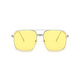U065 Yellow Square Sunglasses