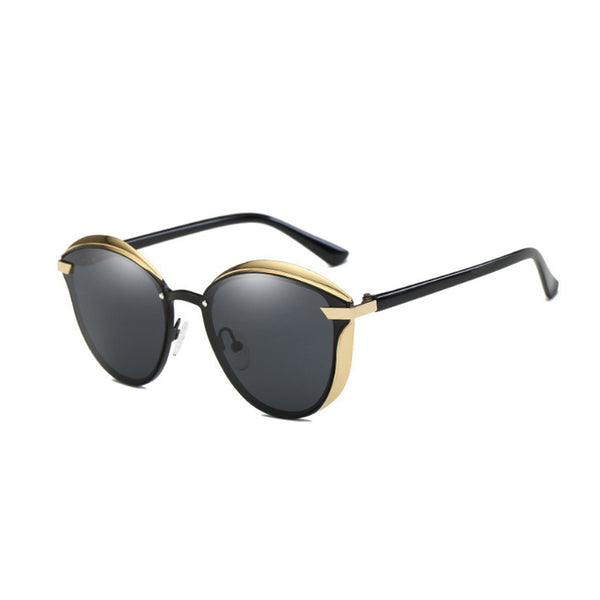 C006 Black Polarized Cat Eye Sunglasses