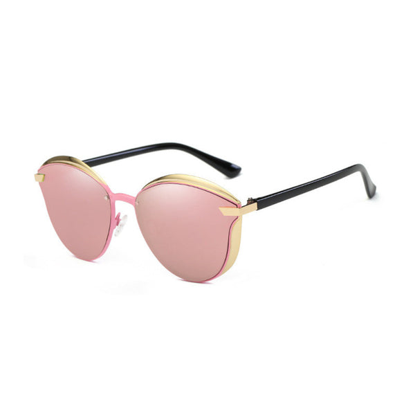 C007 Pink Polarized Cat Eye Sunglasses