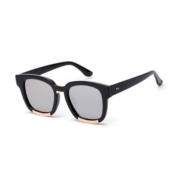 W006 Silver Polarized Square Sunglasses