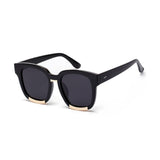 W008 Black Polarized Square Sunglasses