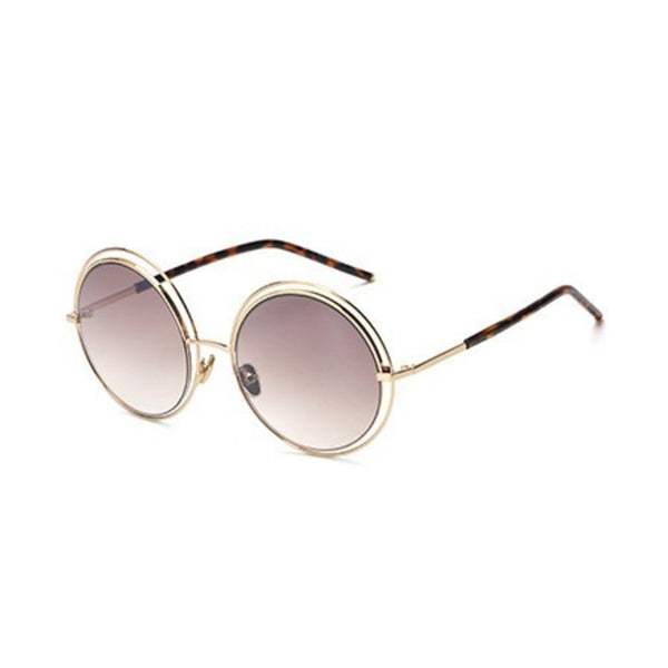C018 Brown Round Sunglasses