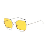 W001 Yellow Cat Eye Sunglasses