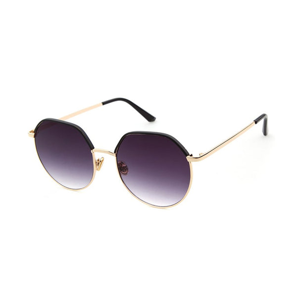W012 Black Oval Sunglasses