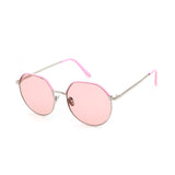 W013 Pink Oval Sunglasses