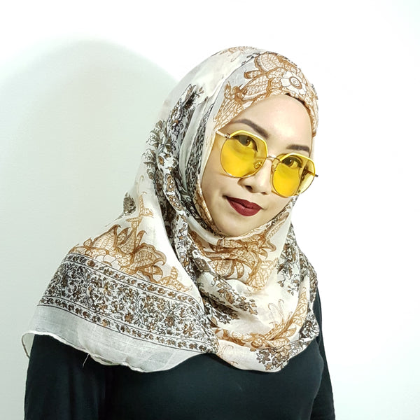 W014 Yellow Oval Sunglasses