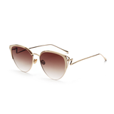 W047 Brown Cat Eye Sunglasses