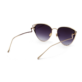 W049 Brown Cat Eye Sunglasses