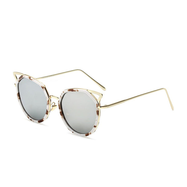 C021 Silver Cat Eye Sunglasses