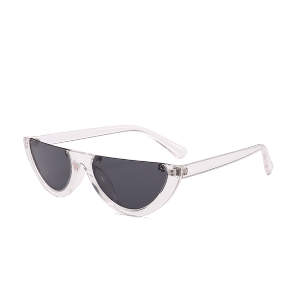 W051 Black Clear Cat Eye Sunglasses