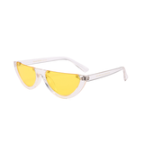 W052 Yellow Clear Cat Eye Sunglasses