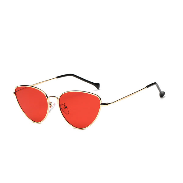 W021 Red Retro Sunglasses