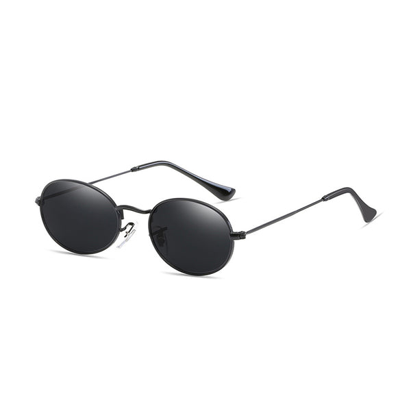 W023 Black Oval Sunglasses