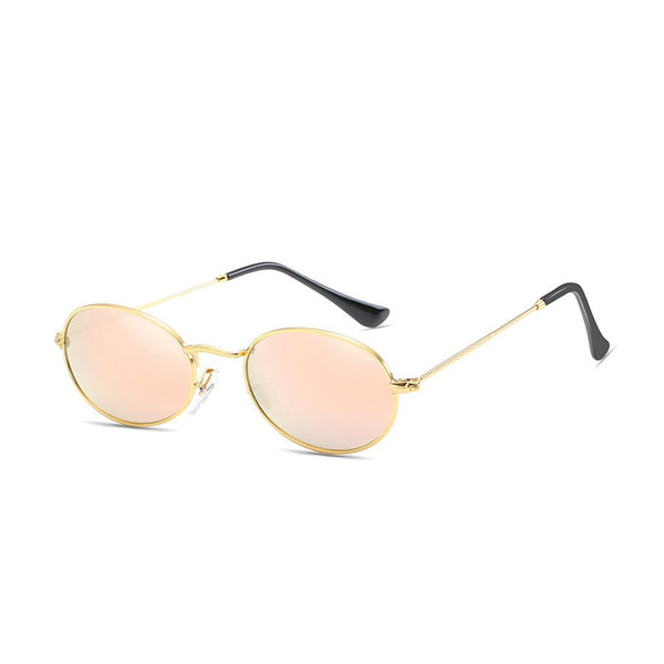 W026 Pink Oval Sunglasses
