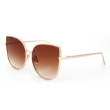 W029 Brown Cat Eye Sunglasses