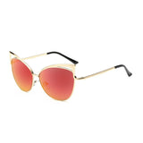 C027 Red Cat Eye Sunglasses