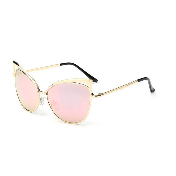 C028 Pink Cat Eye Sunglasses