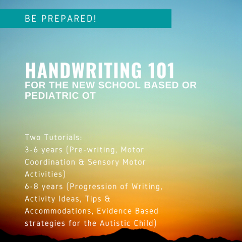 Handwriting Tutorial for the New School Based or Pediatric Therapist