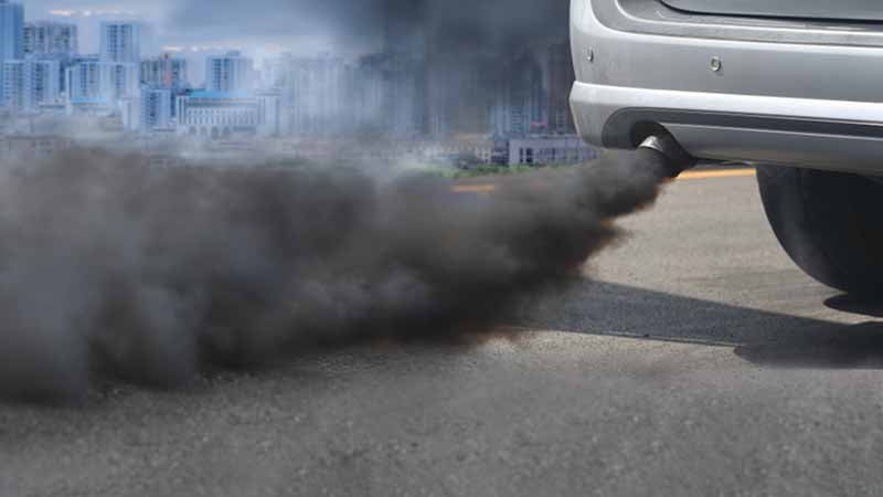 Car tailpipe pollution