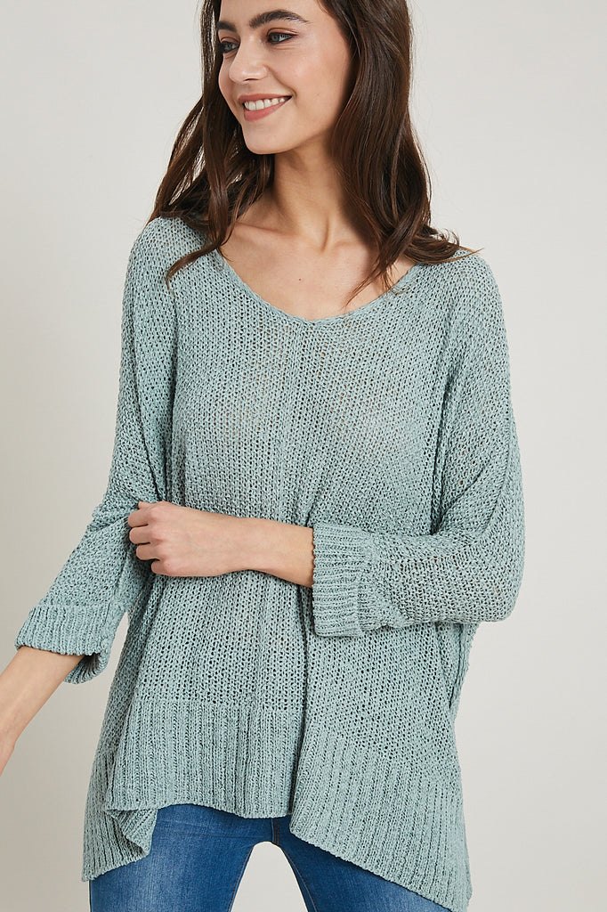 New Direction Knit Top - Mint