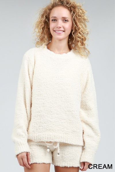 Berber Fleece Pullover - Cream