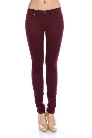 Classic Stretch Skinny - Burgundy