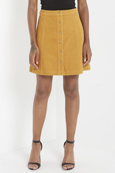 Brooke Button Up Corduroy - Mustard