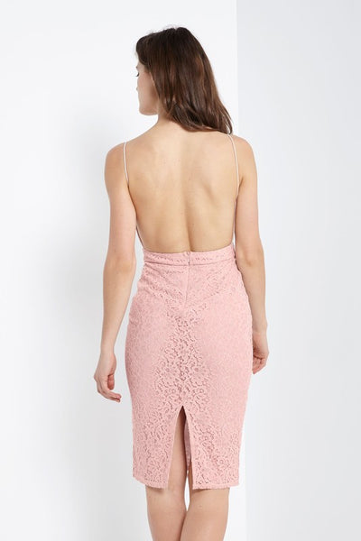 Take Me Out Midi Dress - Blush