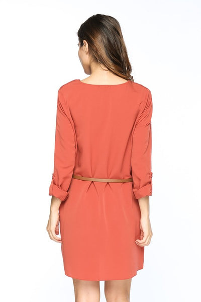 Rebecca Shirt Dress - Rust