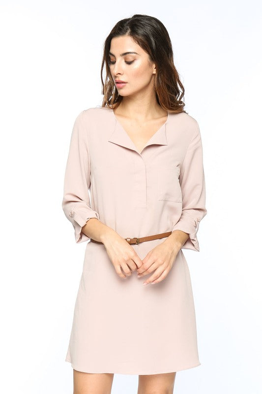 Rebecca Shirt Dress - Mauve