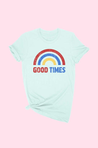 Good Times Rainbow Tee - Mint