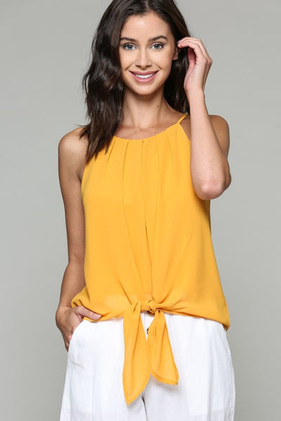 Frankie Pleat Front Tank - Yellow