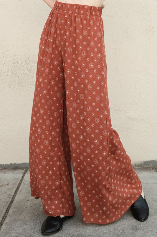 Portia High Waist Flare Pants - Cinnamon