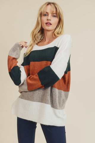 Braxton Color Block Sweater