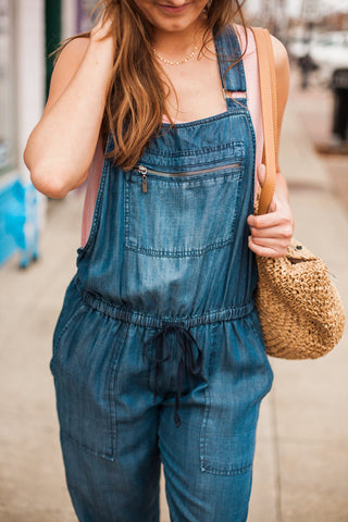 Cassidy Denim Overalls - Midnight Wash