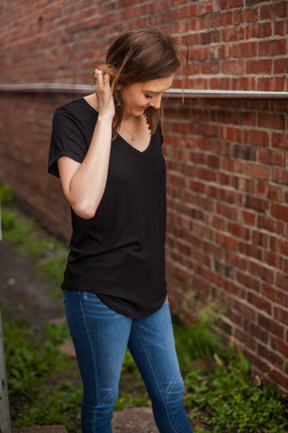 Perfect Front Tuck Tee - Black