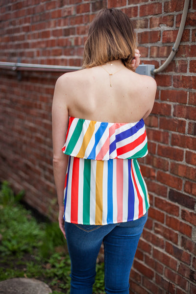 Be Colorful Striped Tank