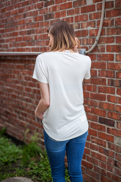 Perfect Front Tuck Tee - Off White