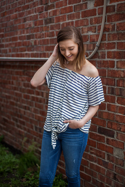 Comfort Zone Striped Top