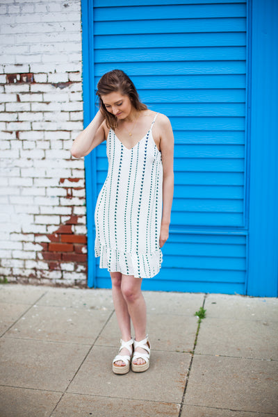 Tanner Triangle Dress - Off White
