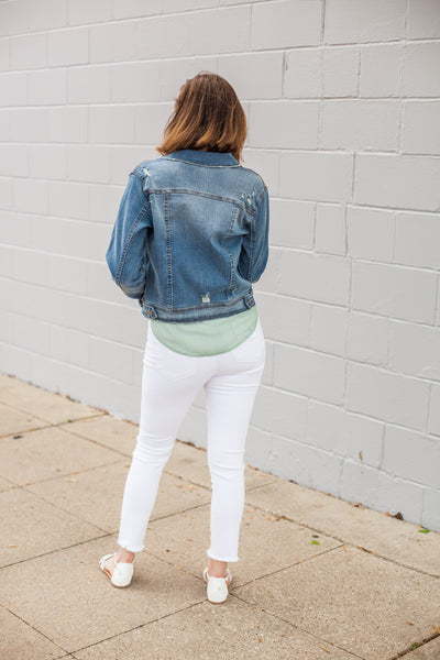 Dallas Distressed Denim Jacket