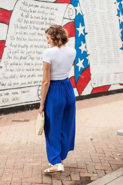 Be A Star Paper Bag Pants - Capri Blue